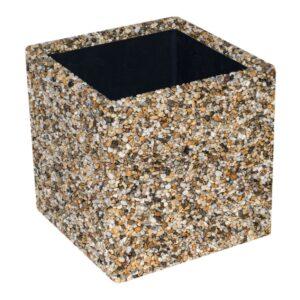 říční kamínek květináč